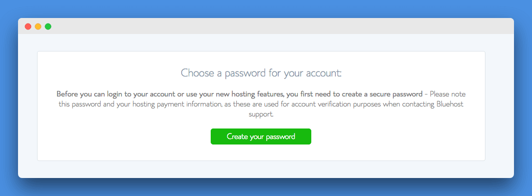Website Kaise Banaye, Password Website